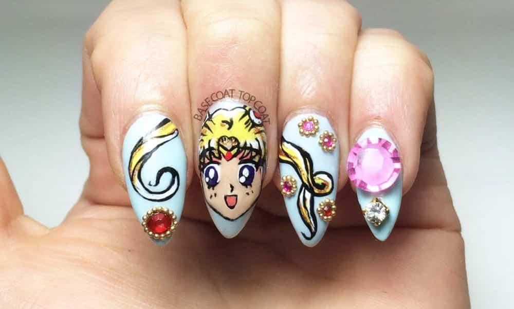 16 nail arts de desenhos animados que vão encantar você