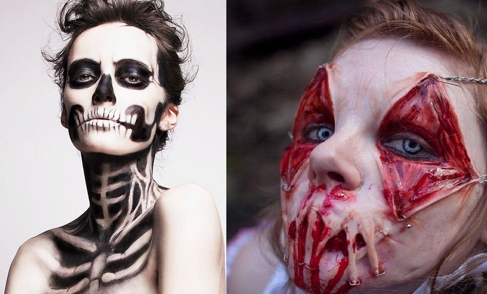 17 ideias assustadoras de maquiagem para o Halloween