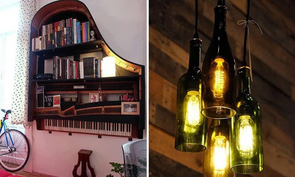 10 maneiras incríveis de reaproveitar objetos em casa