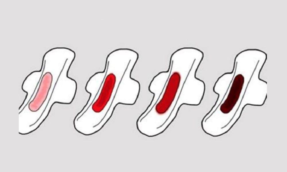 O que a cor do sangue de sua menstruação quer dizer