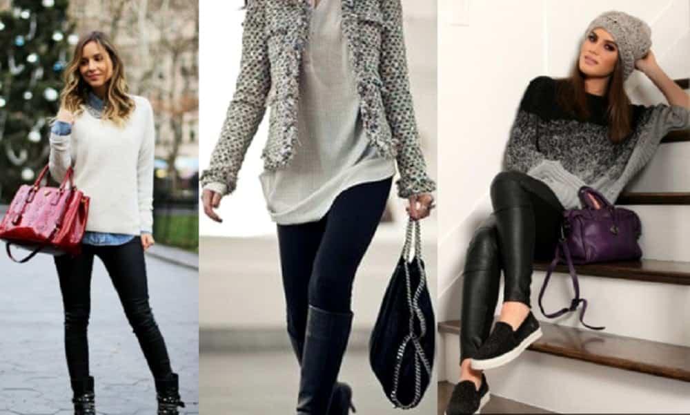 5 formas elegantes de usar calça legging no inverno