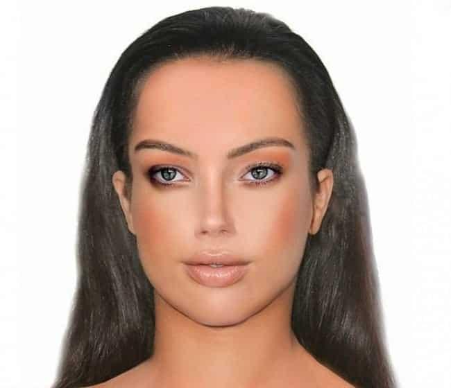 9868fecf3 Para formar o rosto dessa moça, um programa de computador uniu os traços mais  perfeitos de várias mulheres, na simetria correta. No exemplo, estão unidos  o ...