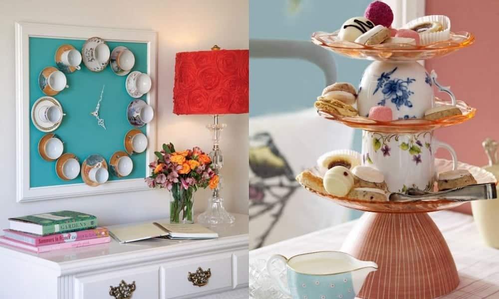 11 formas de transformar xícaras de chá em decoração