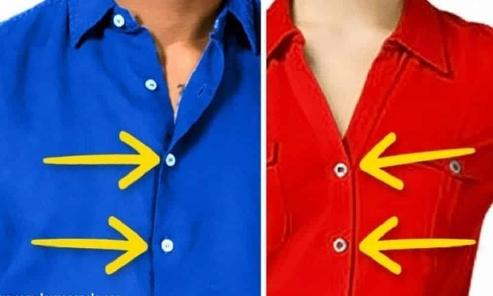 Por que os botões da camisa de homens e mulheres ficam em lados opostos?