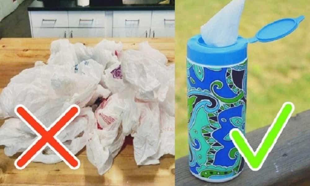 13 formas de guardar sacolas plásticas de forma organizada