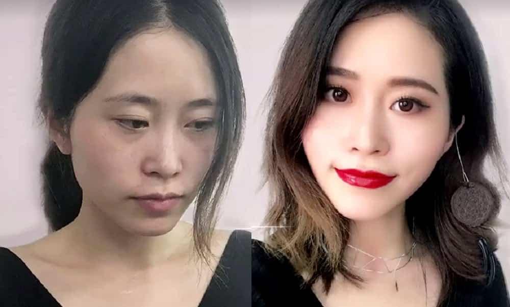 Blogueira surpreende com maquiagem feita com comida e materiais de escritório