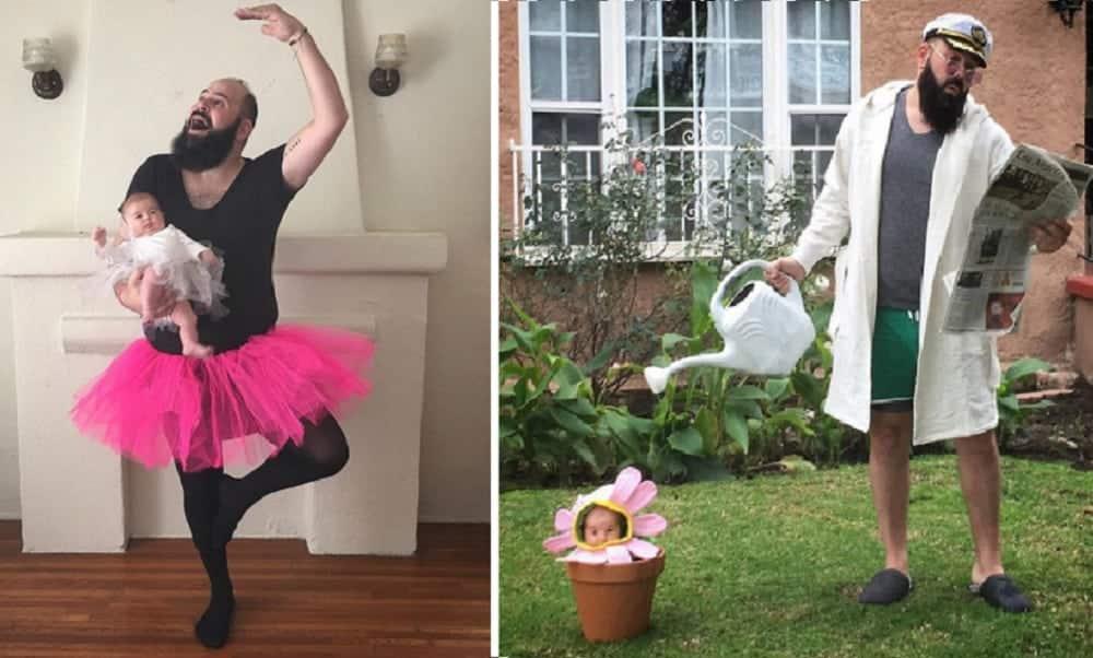 Pai cria fotos hilárias com a filha e faz sucesso no Instagram