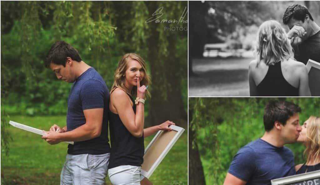 Esposa arma ensaio fotográfico para contar ao marido que está gravida