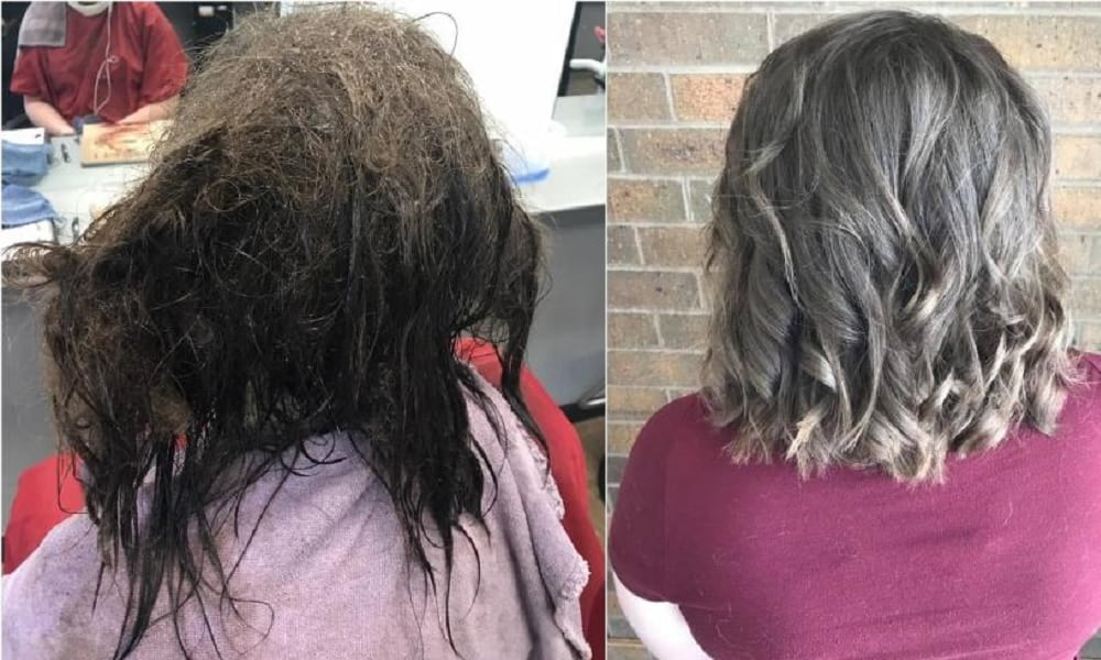 Cabeleireira transforma visual de garota depressiva depois de 13 horas de cuidados