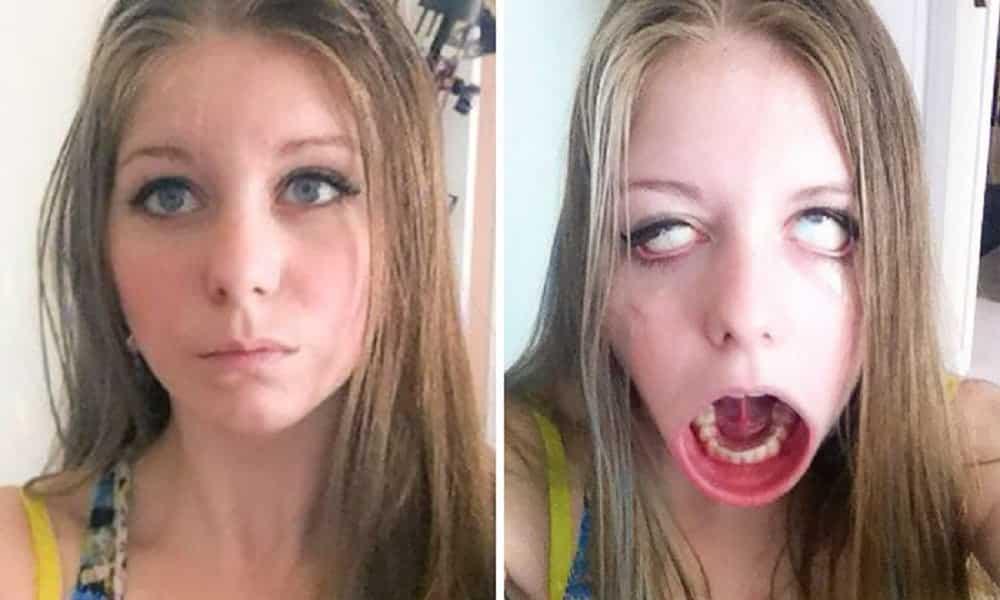 53 antes e depois de garotas fazendo caretas que ninguém diz serem as mesmas pessoas
