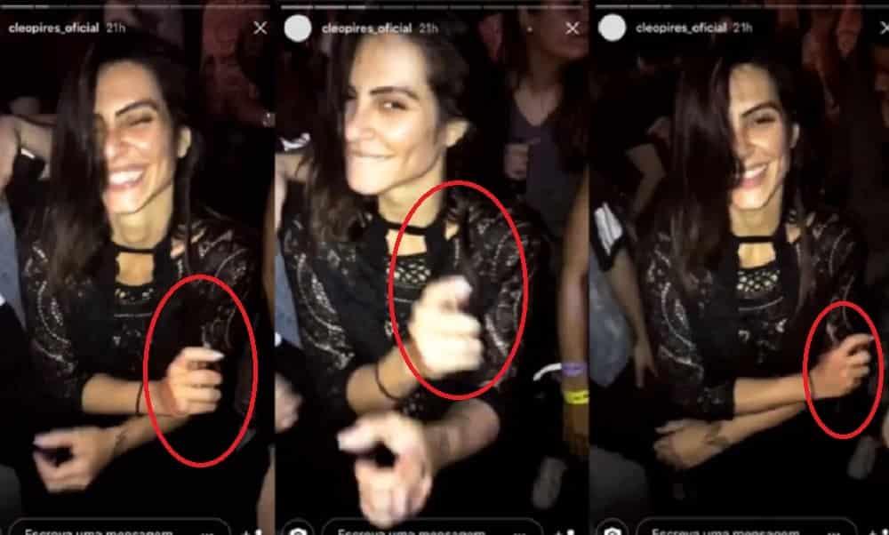 Cleo Pires é flagrada com lança-perfume em balada e vídeo viraliza