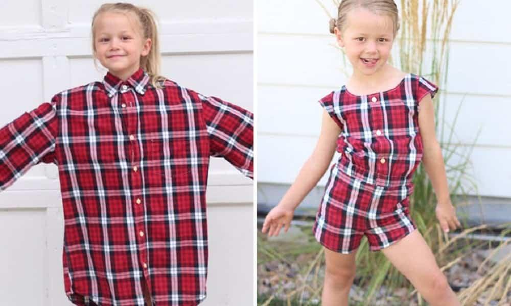 Mãe usa camisas antigas para fazer vestidos para as filhas e o resultado é incrível