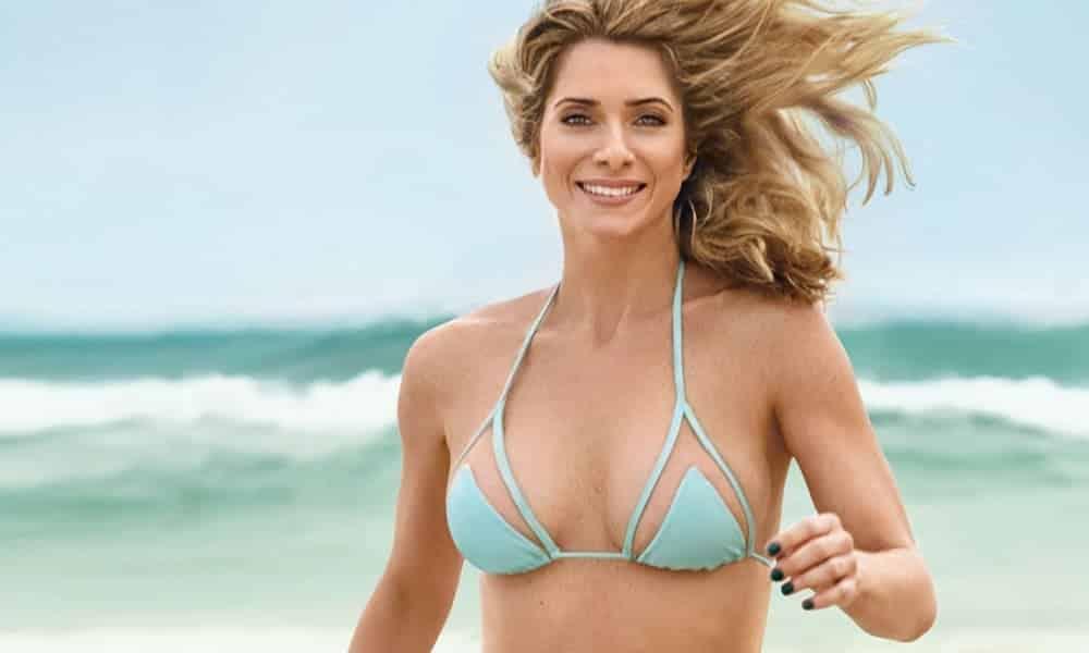 De biquíni, Letícia Spiller mostra que está em ótima forma aos 44 anos
