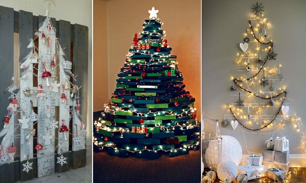 72 ideias criativas de árvore de Natal para quem não está a fim de gastar