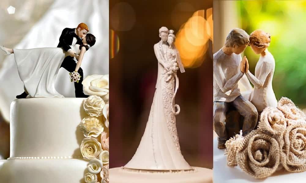 Noivinhos para bolo de casamento: 70 modelos para você se inspirar