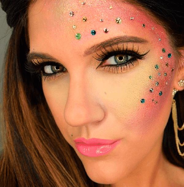Resultado de imagem para maquiagem simples para o carnaval 2018