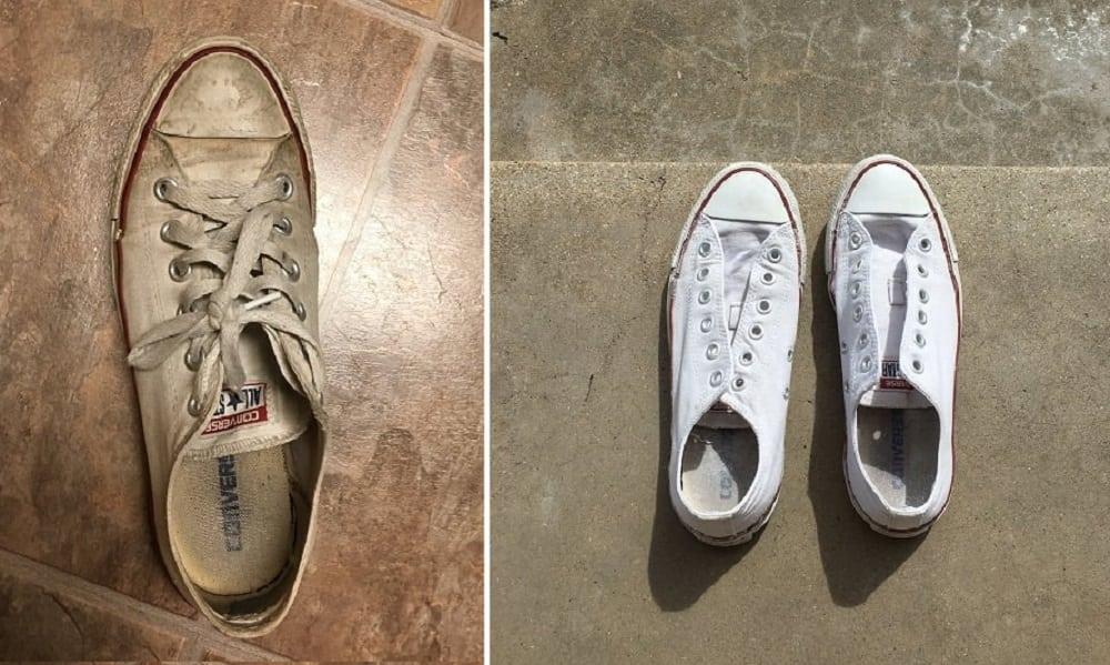 0ec3a4ce9cc Como limpar tênis branco e (deixá-lo branco mesmo) sem água sanitária