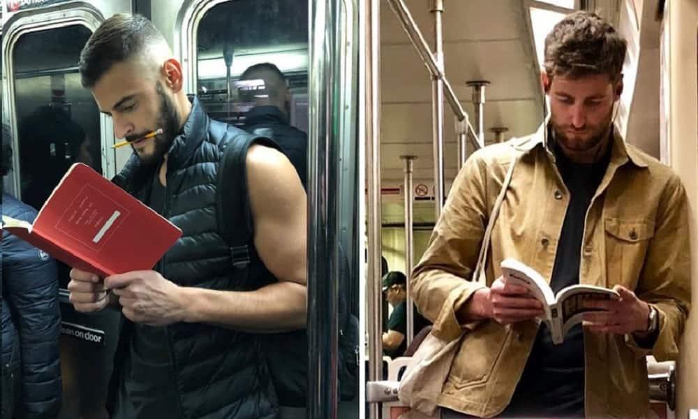 Perfil no Instagram mostra homens lendo no metro e prova que ler é sexy