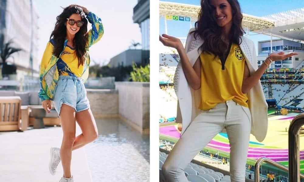 Looks para a Copa: inspirações para torcer para o Brasil com estilo