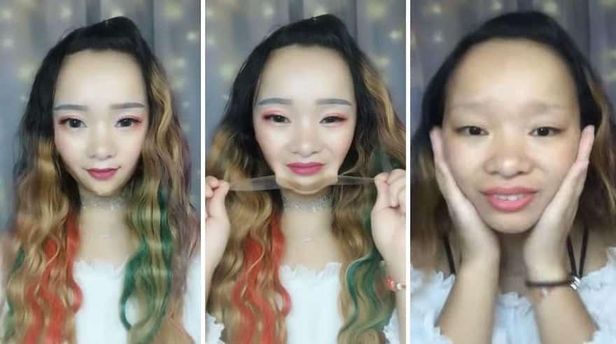 Maquiagem Asitica O Antes E O Depois Delas  Simplesmente Chocante