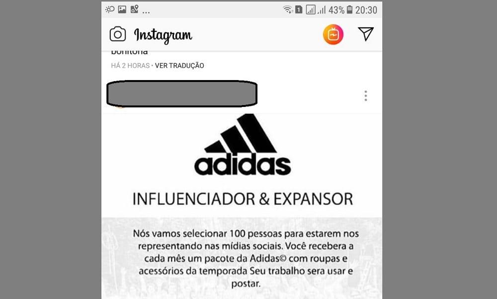 Mais de 140 mil caíram em golpe da Adidas no Instagram