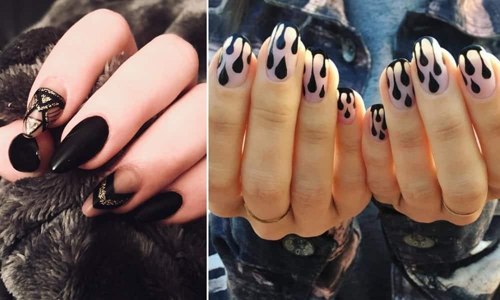 Unhas decoradas pretas: 70 inspirações para sua próxima manicure