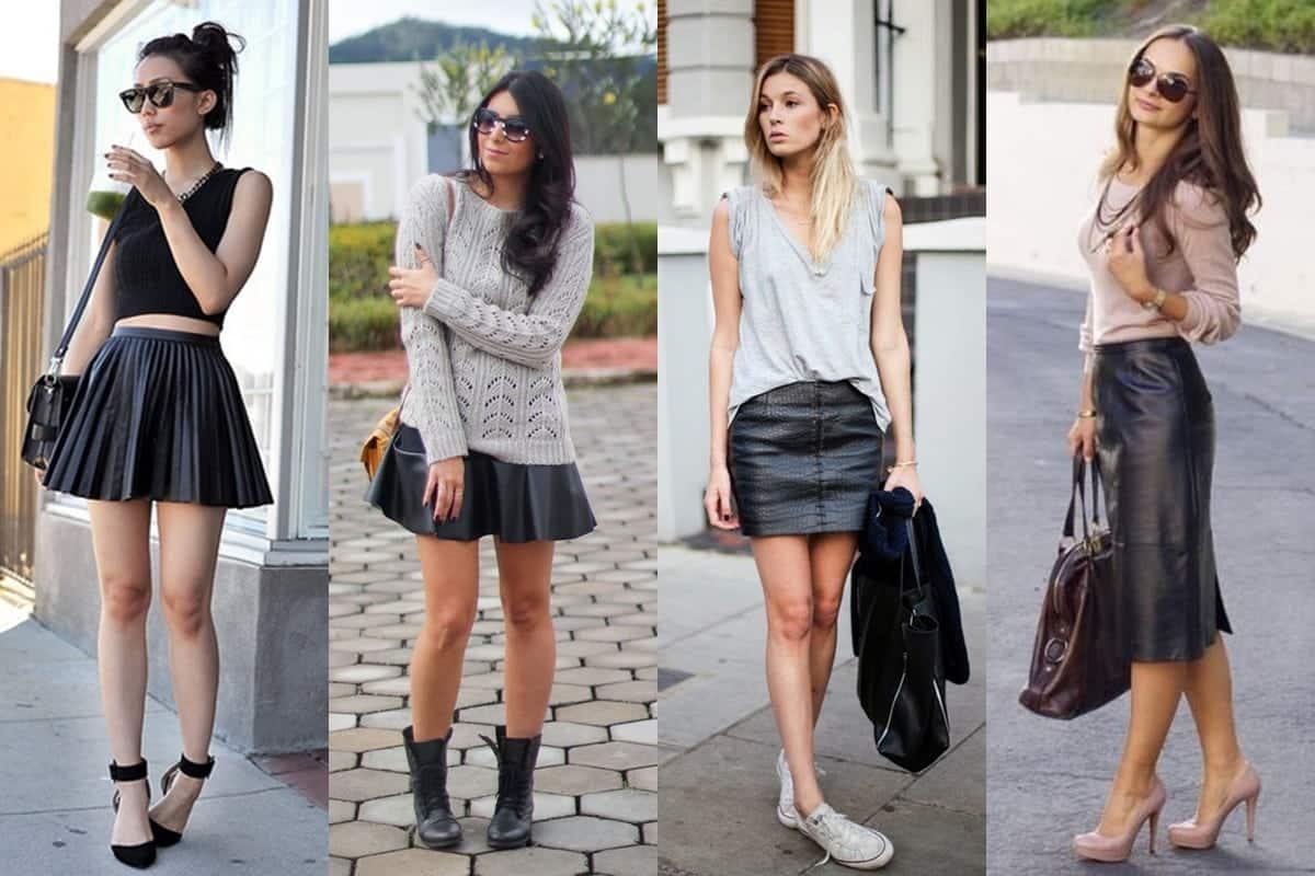 Saia de couro: ideias e estilos para você sair por aí arrasando!