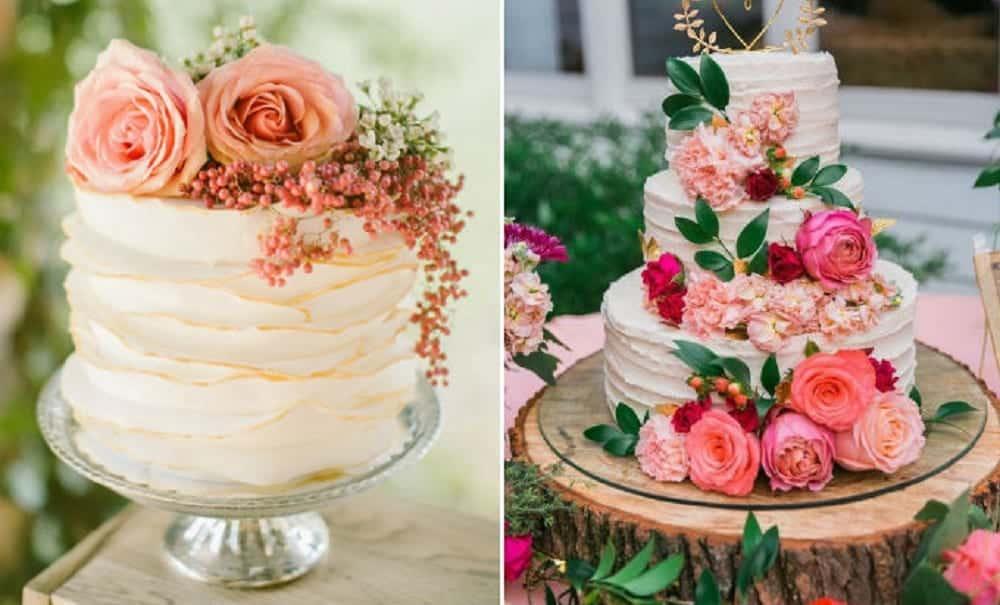 15 anos: Inspirações de bolos incríveis decorados com flores