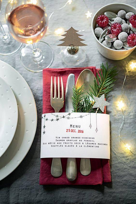 30 imagens de decoração de mesa de natal para te inspirar