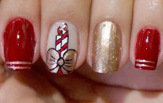 30 imagens de unhas para o natal que farão você arrasar!