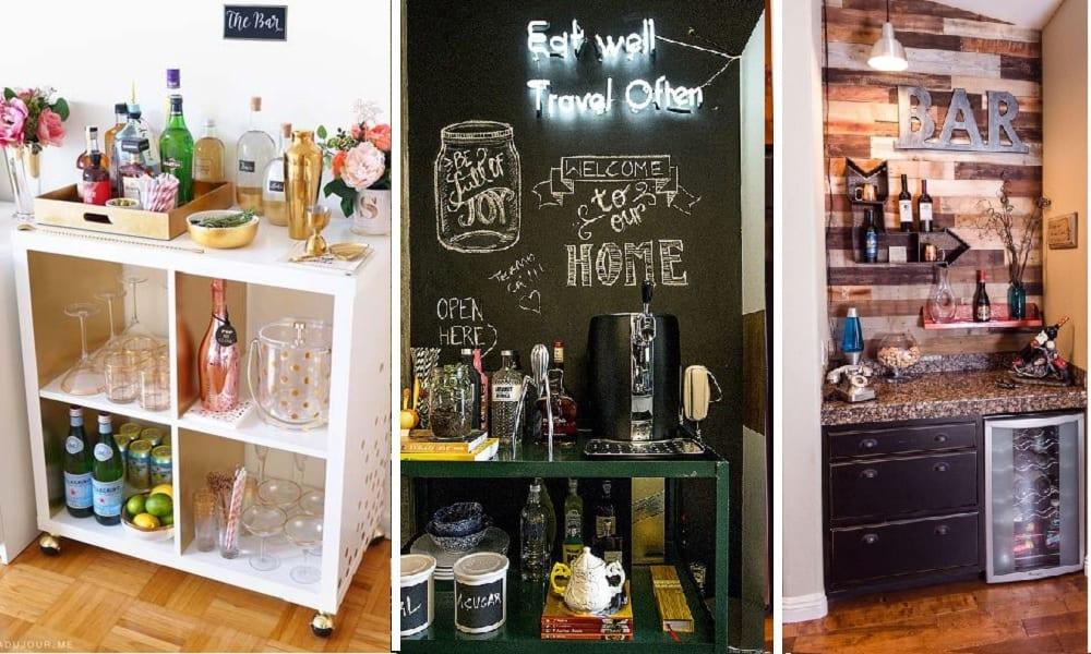 30 imagens para te inspirar a fazer o seu bar em casa
