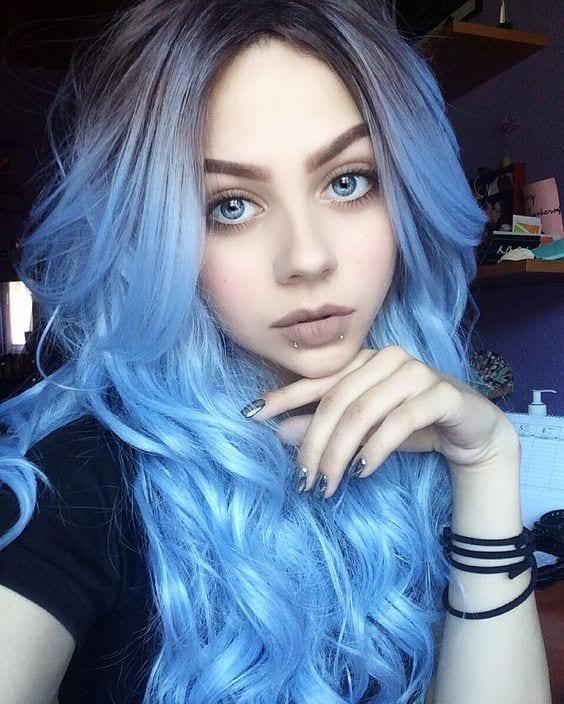 Cabelo azul, como pintar em casa e muita inspiração!