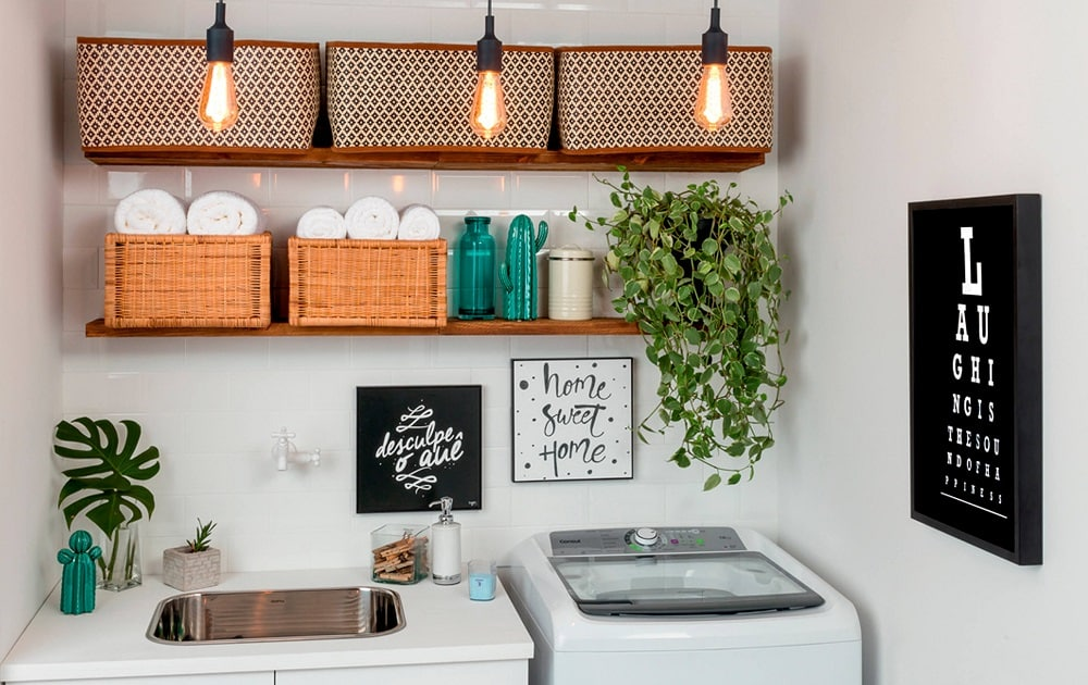 30 imagens para te inspirar a decorar a lavanderia