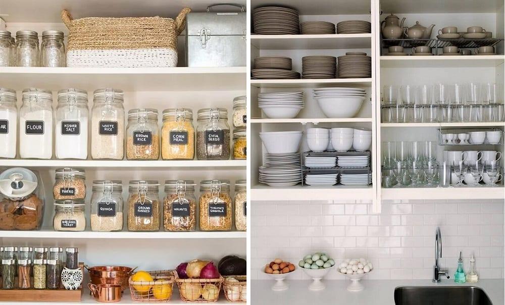 Como organizar o armário da cozinha em 5 passos simples e fáceis