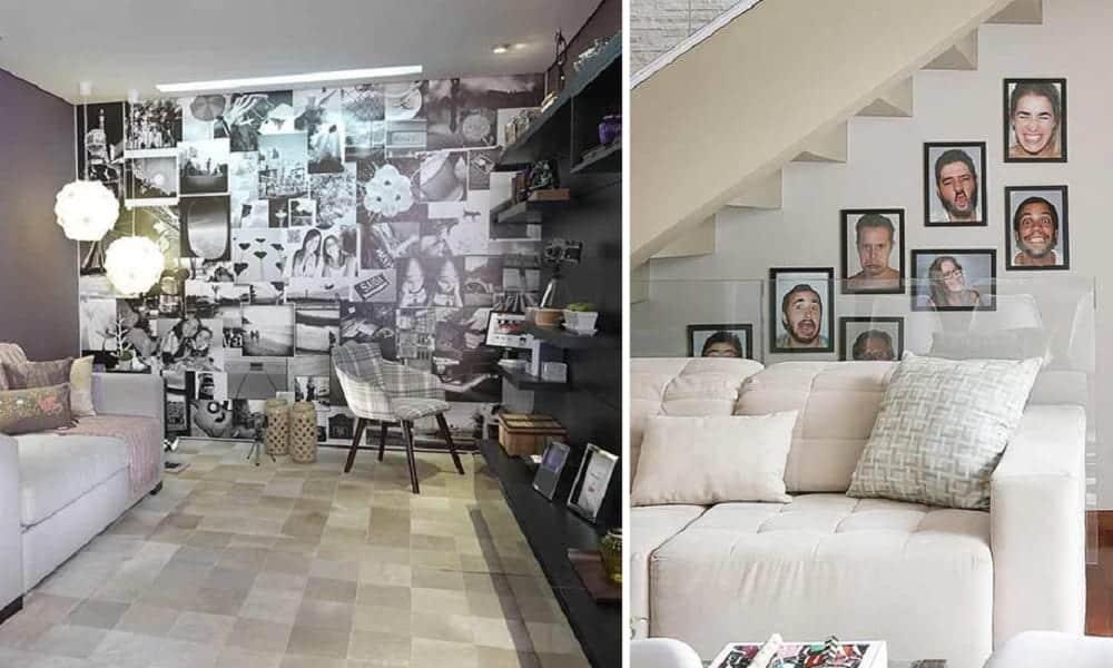 Decoração com fotos, 65 inspirações para você espalhar fotos pela casa