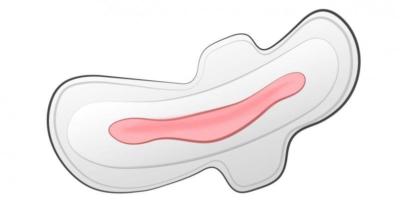 O que pode significar menstruação clara e aguada?