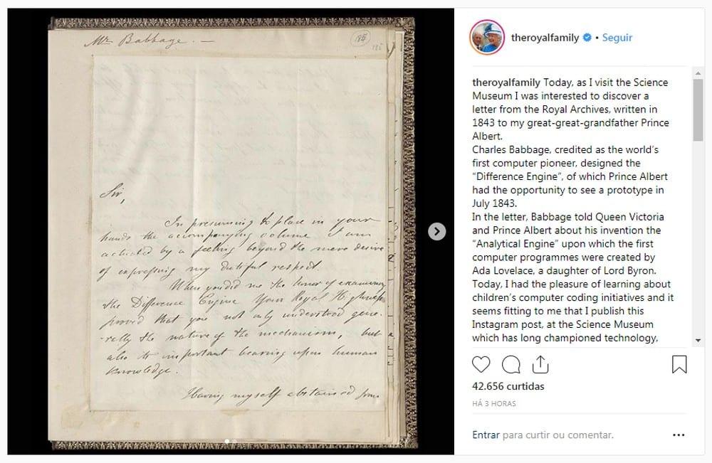 Rainha Elizabeth posta no Instagram pela 1ª vez