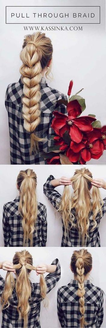 5 tipos diversos e muito simples de penteados fáceis