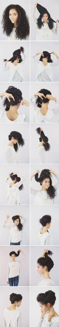 8 tipos diversos e muito simples de penteados fáceis
