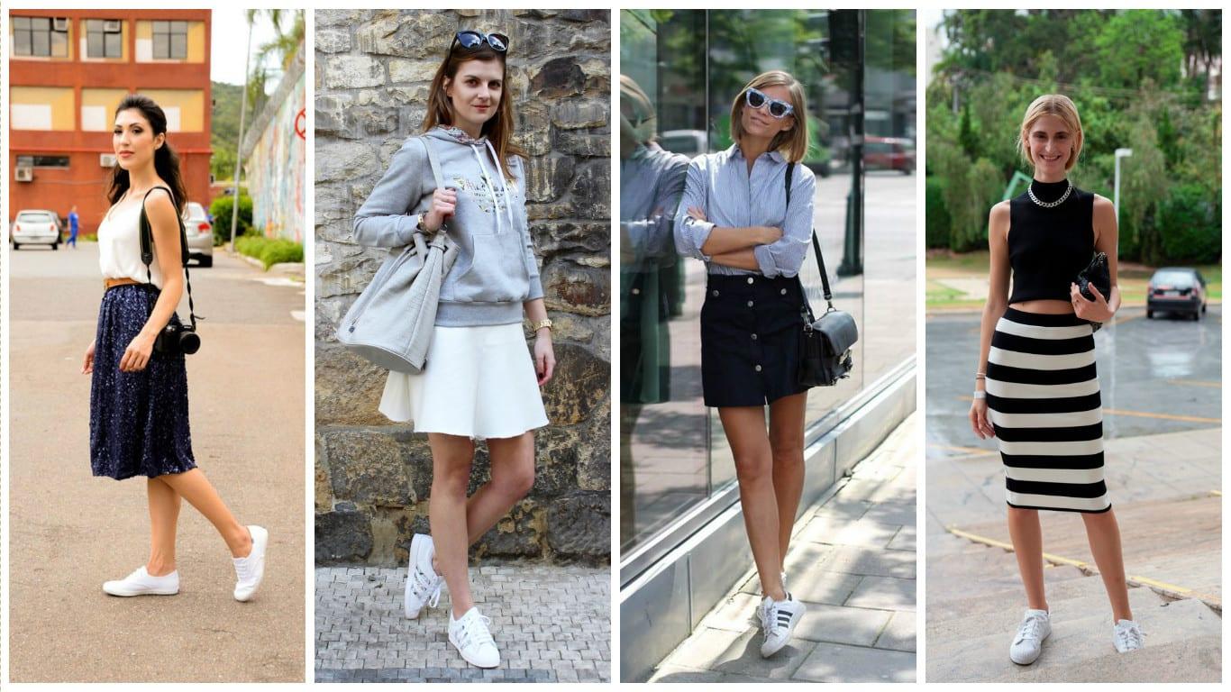 Confira algumas inspirações de looks com tênis branco