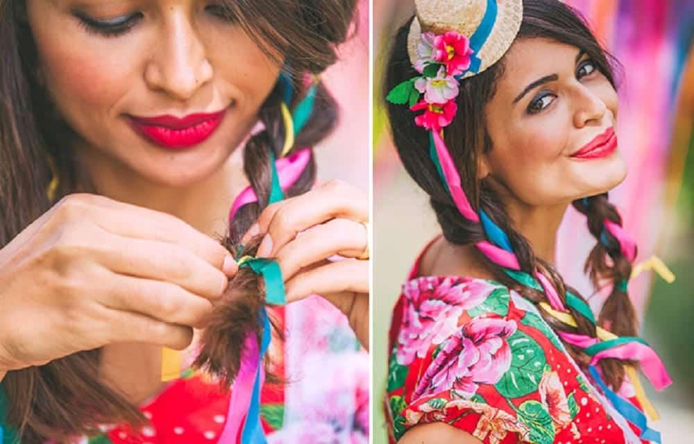 Penteados para festa junina, 5 melhores inspirações para fazer em casa