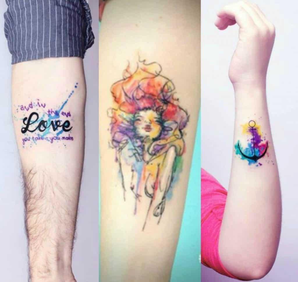 Tatuagem aquarela, mais de 80 estilos diferentes para se inspirar