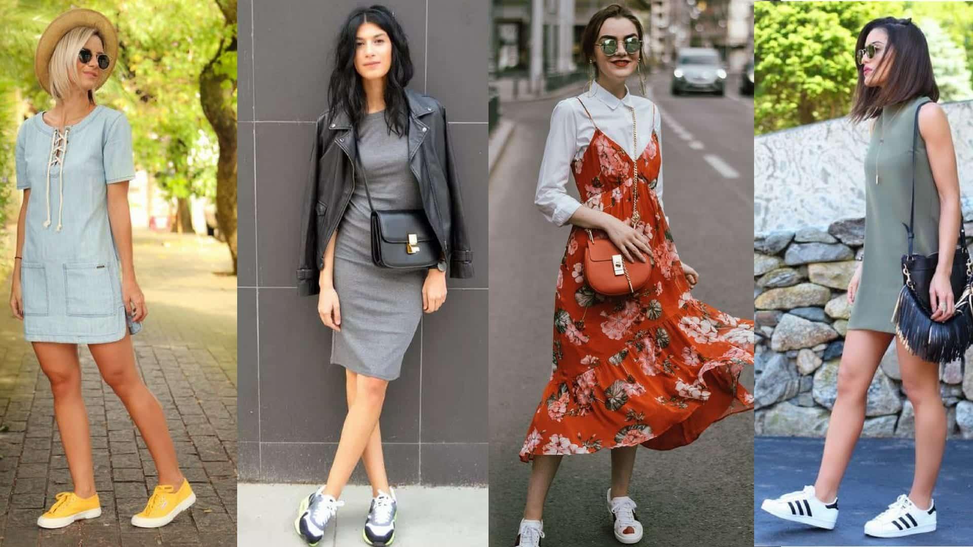 Vestido com tênis - como usar e ideias de looks para se inspirar