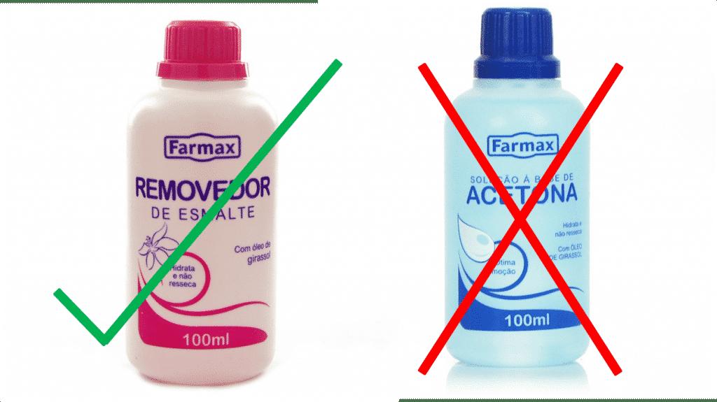 Removedor de esmalte e acetona, qual é o melhor? Diferenças e tipos