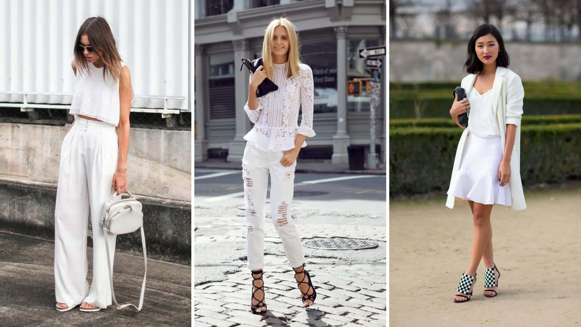 Roupas brancas - Cuidados, tendências e dicas para usá-las o ano inteiro