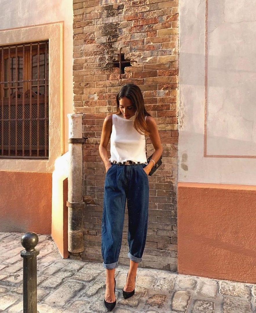 Calça slouchy- Quando surgiu, como usá-la + Fotos para você se inspirar