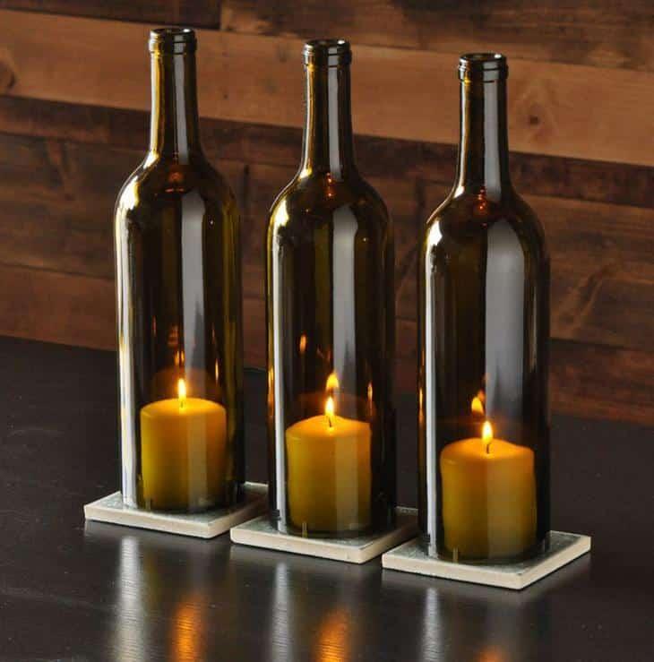 Como cortar garrafa de vidro - diversas formas de decorar sua casa