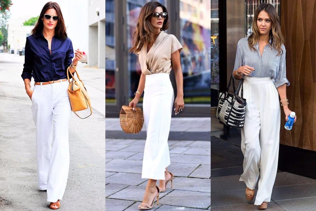 Look com calça branca - Como usar e melhores combinações