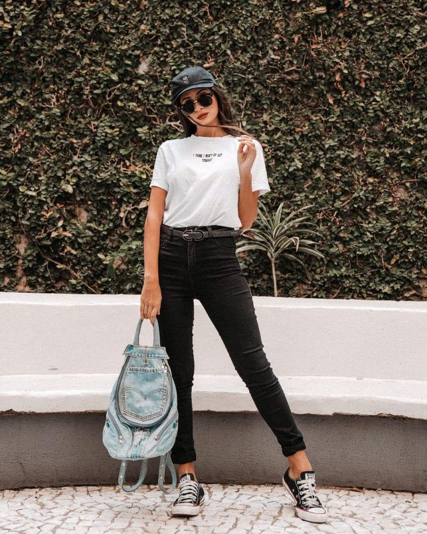 Looks com camiseta branca- monte incríveis combinações com a peça
