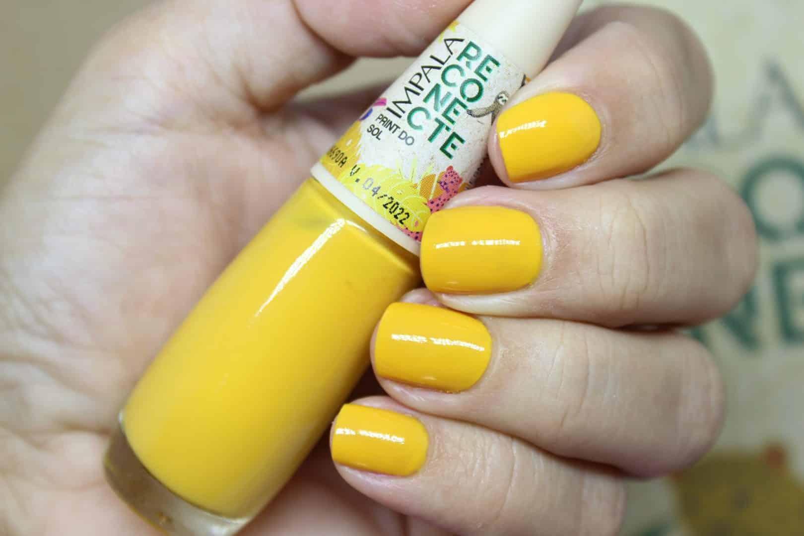 Esmalte amarelo - Características, tendência e inspirações